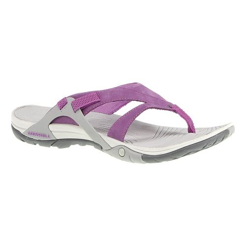 Womens Merrell Azura Flip Sandals Shoe - Dark Purple 6