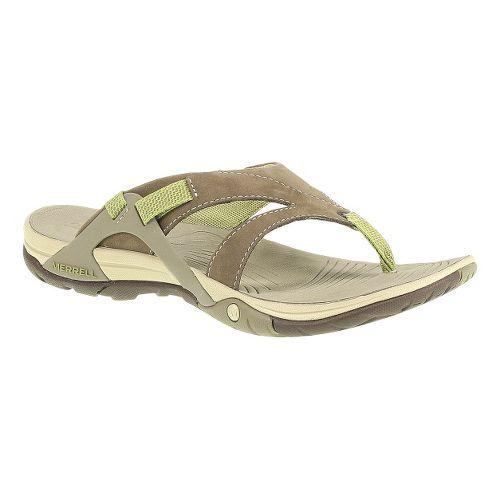 Womens Merrell Azura Flip Sandals Shoe - Otter 7
