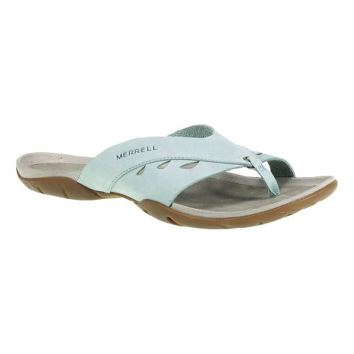Womens Merrell Flutter Wrap Sandals Shoe - Egshell Blue 10