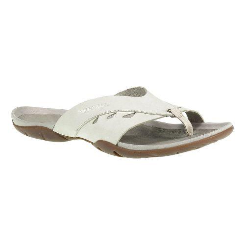 Womens Merrell Flutter Wrap Sandals Shoe - Ivory 10