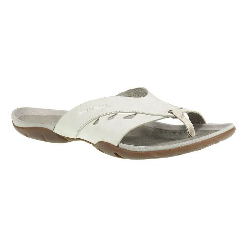 Womens Merrell Flutter Wrap Sandals Shoe - Ivory 5