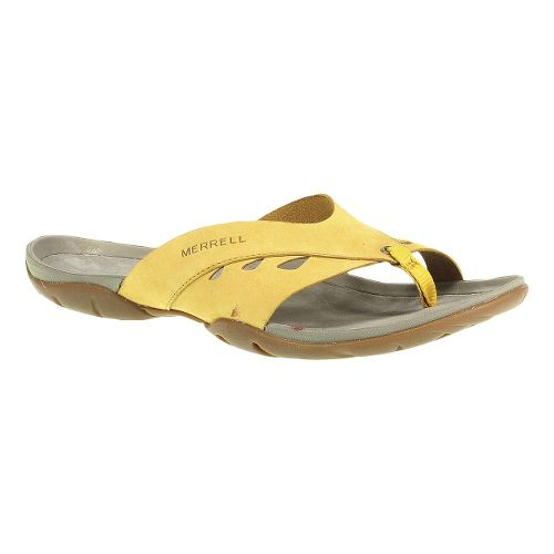 Womens Merrell Flutter Wrap Sandals Shoe - Yolk Yellow 5