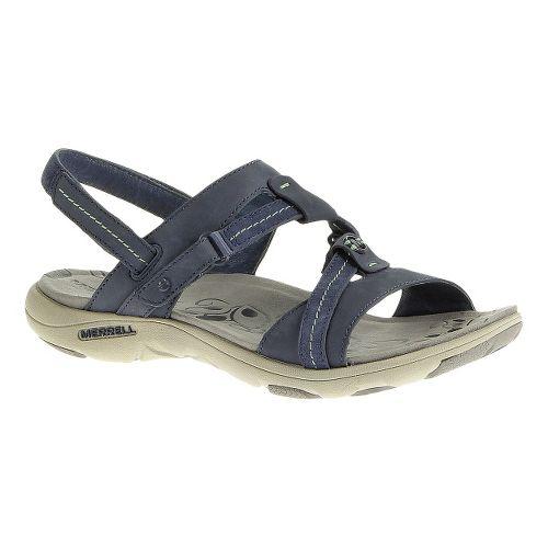 Womens Merrell Swivel Nubuck Sandals Shoe - Bering Sea 7