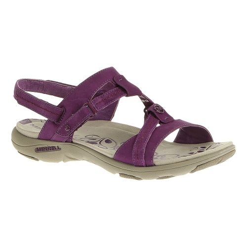 Womens Merrell Swivel Nubuck Sandals Shoe - Dark Purple 5