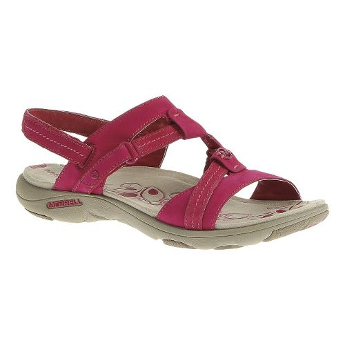 Womens Merrell Swivel Nubuck Sandals Shoe - Rose Red 6