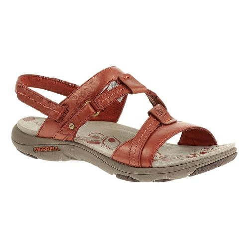Womens Merrell Swivel Lavish Sandals Shoe - Red Ochre 8