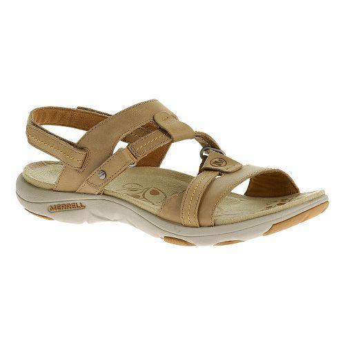 Womens Merrell Swivel Leather Sandals Shoe - Sand Dollar 5