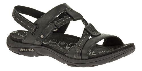 Womens Merrell Swivel Leather Sandals Shoe - Black 7