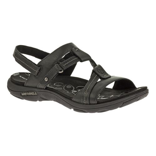 Womens Merrell Swivel Leather Sandals Shoe - Black 12