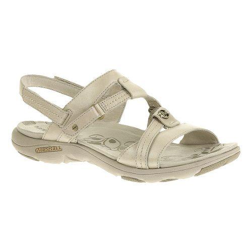Womens Merrell Swivel Leather Sandals Shoe - White 12