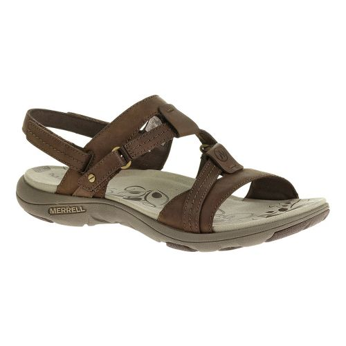 Womens Merrell Swivel Leather Sandals Shoe - Wild Poppy 8