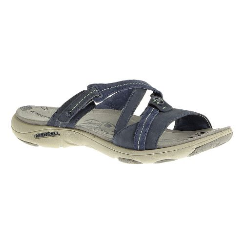 Womens Merrell Sway Nubuck Sandals Shoe - Bering Sea 7