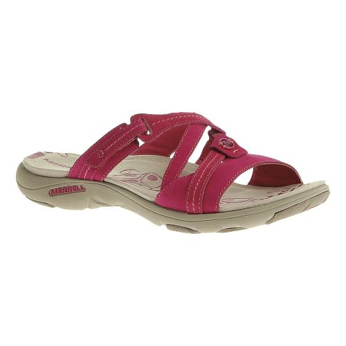 Womens Merrell Sway Nubuck Sandals Shoe - Rose Red 9