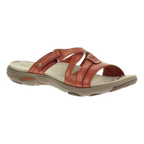 Womens Merrell Sway Lavish Sandals Shoe - Red Ochre 12