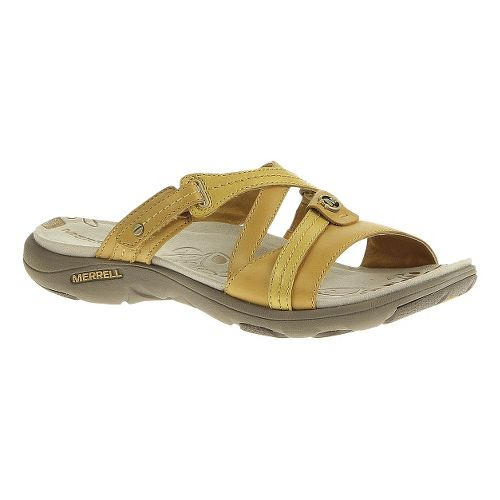 Womens Merrell Sway Lavish Sandals Shoe - Spruce Yellow 7