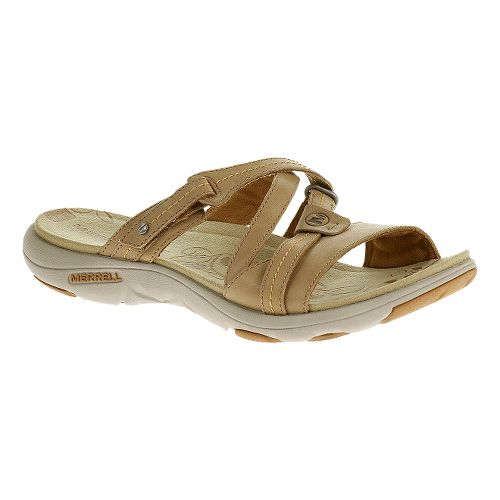Womens Merrell Sway Leather Sandals Shoe - Sand Dollar 6