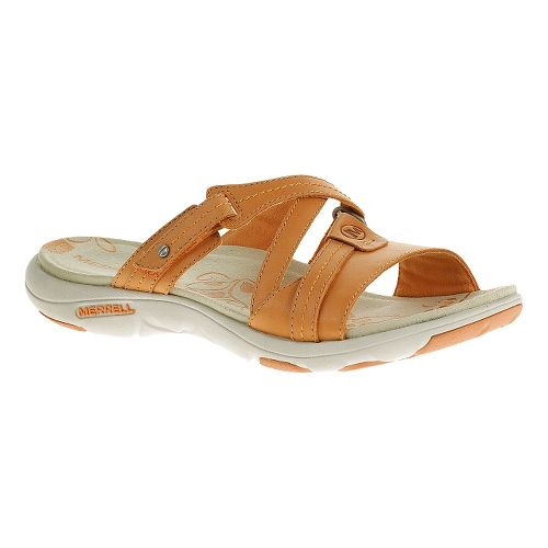 Womens Merrell Sway Leather Sandals Shoe - Cantaloupe 5