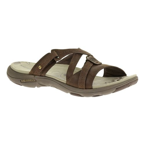 Womens Merrell Sway Leather Sandals Shoe - Bracken 6