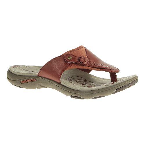 Womens Merrell Grace Lavish Flip Sandals Shoe - Red Ochre 5