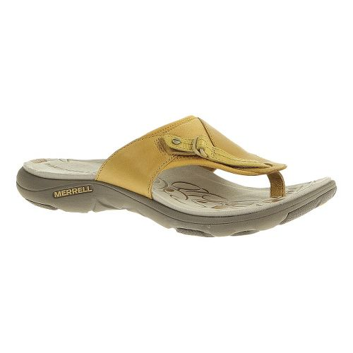 Womens Merrell Grace Lavish Flip Sandals Shoe - Spruce Yellow 10