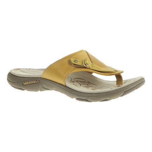 Womens Merrell Grace Lavish Flip Sandals Shoe - Spruce Yellow 8