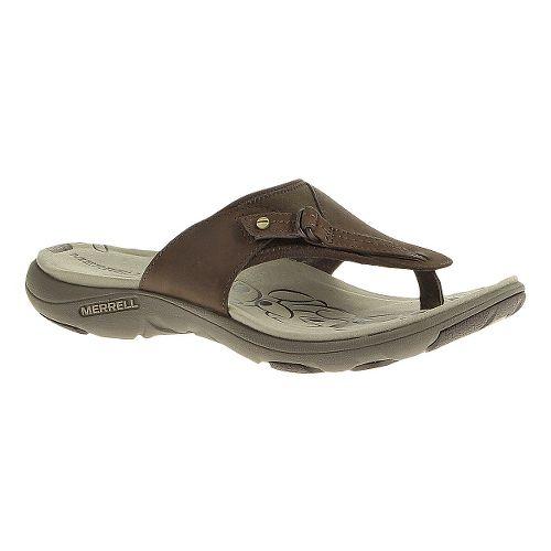 Womens Merrell Grace Leather Flip Sandals Shoe - Bracken 8