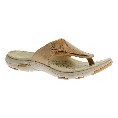Womens Merrell Grace Leather Flip Sandals Shoe - Sand Dollar 5