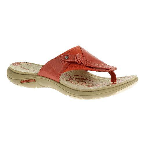 Womens Merrell Grace Leather Flip Sandals Shoe - Wild Poppy 8