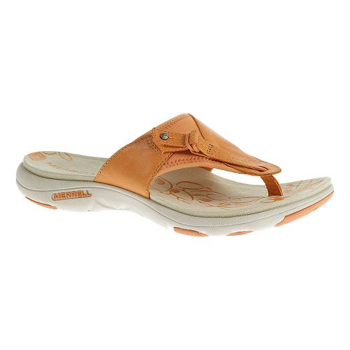 Womens Merrell Grace Leather Flip Sandals Shoe - Cantaloupe 6