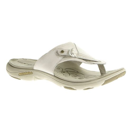 Womens Merrell Grace Leather Flip Sandals Shoe - White 6