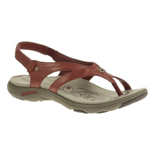 Womens Merrell Buzz Lavish Sandals Shoe - Red Ochre 5