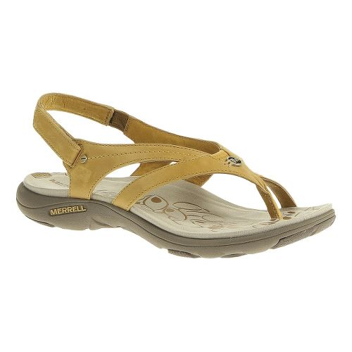 Womens Merrell Buzz Lavish Sandals Shoe - Spruce Yellow 10