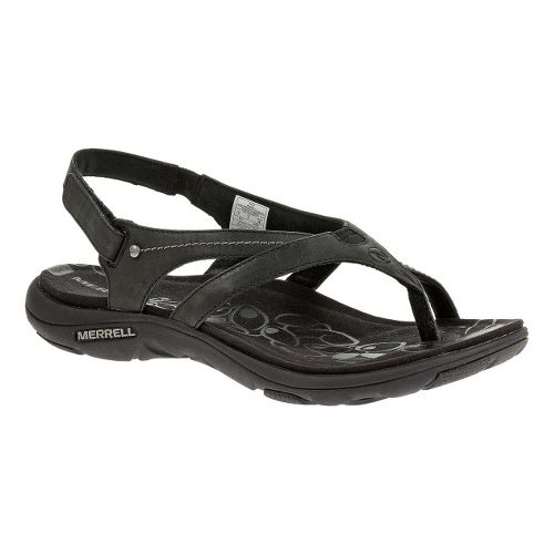 Womens Merrell Buzz Leather Sandals Shoe - Black 12