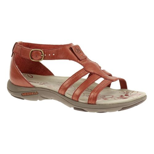 Womens Merrell Cantor Lavish Sandals Shoe - Red Ochre 12