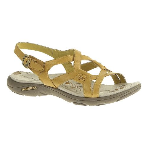 Womens Merrell Agave 2 Lavish Sandals Shoe - Spruce Yellow 5