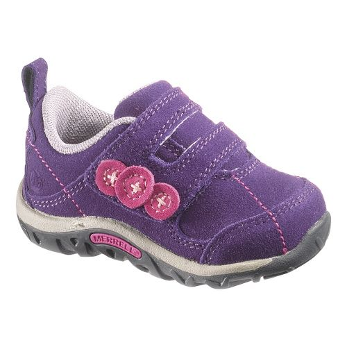 Kids Merrell Jungle Moc Dual Strap Junior Casual Shoe - Wineberry 4
