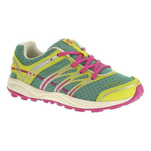 Kids Merrell Mix Master Jam Trail Running Shoe - Atlantis/Pink 1.5