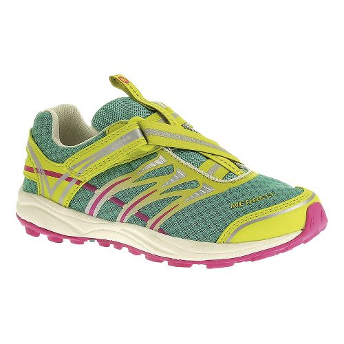 Kids Merrell Mix Master Jam Z-Rap Trail Running Shoe - Atlantis/Pink 3.5