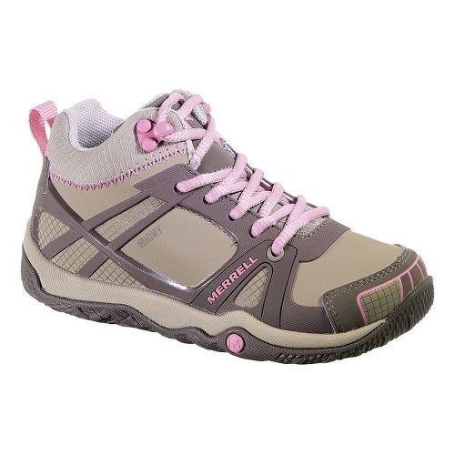 Kids Merrell Proterra Mid Waterproof Hiking Shoe - Brindle/Sea Pink 6.5