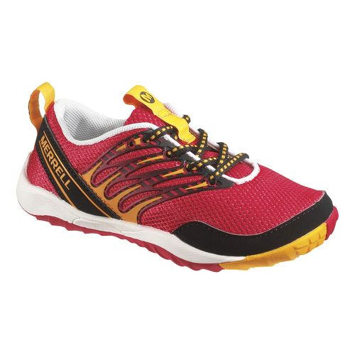 Kids Merrell Trail Glove Lace 2.0 Trail Running Shoe - True Red 3.5