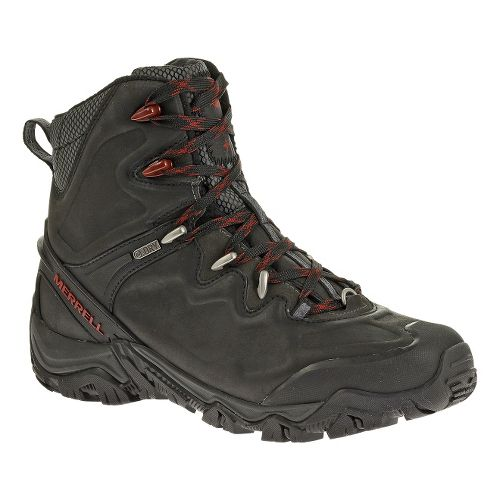 Mens Merrell Polarand 8 Waterproof Hiking Shoe - Black 12