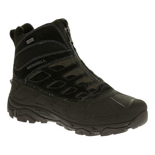 Mens Merrell Moab Polar Zip Waterproof Hiking Shoe - Black 10.5