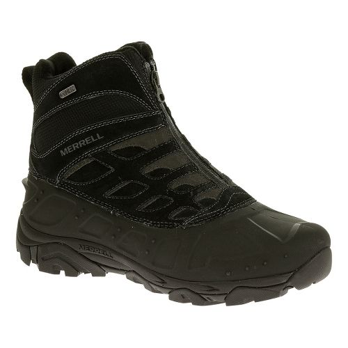 Mens Merrell Moab Polar Zip Waterproof Hiking Shoe - Black 8.5