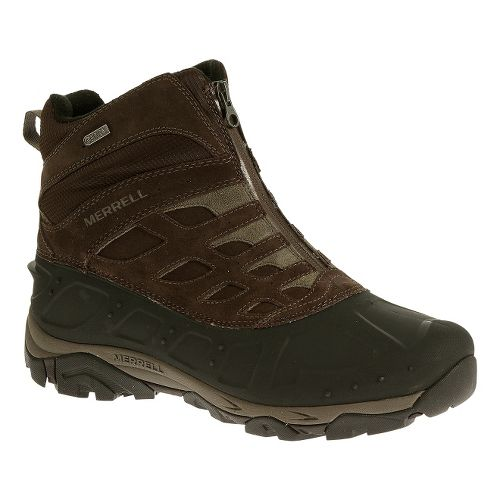 Mens Merrell Moab Polar Zip Waterproof Hiking Shoe - Black Slate 9