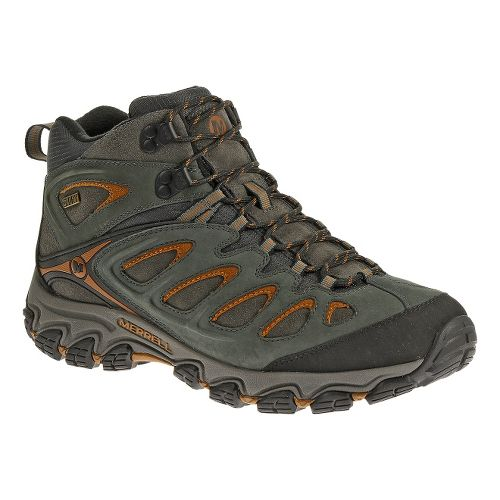 Mens Merrell Pulsate Storm Mid Waterproof Hiking Shoe - Granite 10