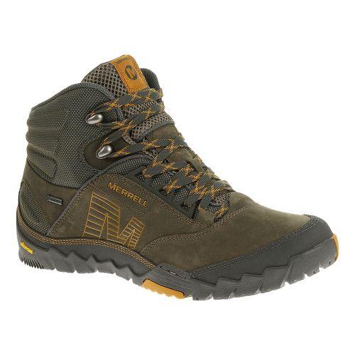 Mens Merrell Annex MID GORE-TEX Hiking Shoe - Merrell Stone 11