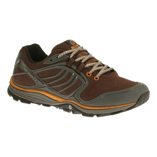 Mens Merrell Verterra Waterproof Hiking Shoe - Bracken/Tanga 11