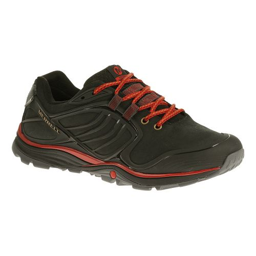 Mens Merrell Verterra Waterproof Hiking Shoe - Black/Red 7.5