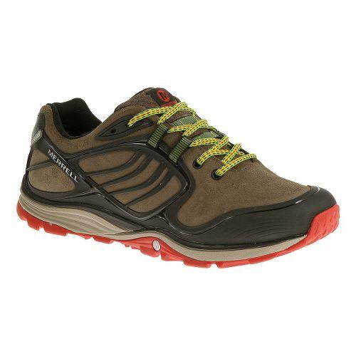 Mens Merrell Verterra Waterproof Hiking Shoe - Merrell Stone/Lime 10.5