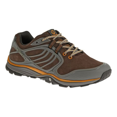 Mens Merrell Verterra Hiking Shoe - Bracken/Tanga 14